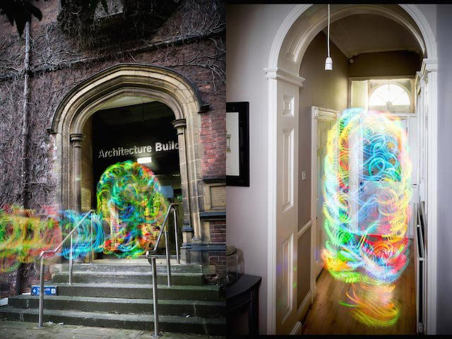 Ghostly Images of WiFi Signals Captured Using Long Exposure Photography and an Android App