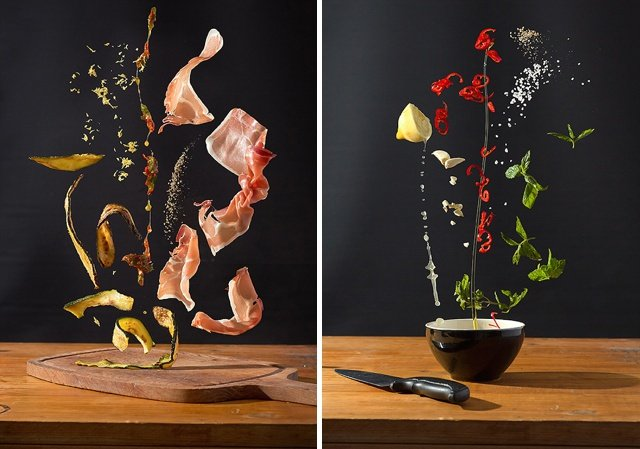 Scrumptious Recipes Turned Into Colorful Photos of Floating Ingredients