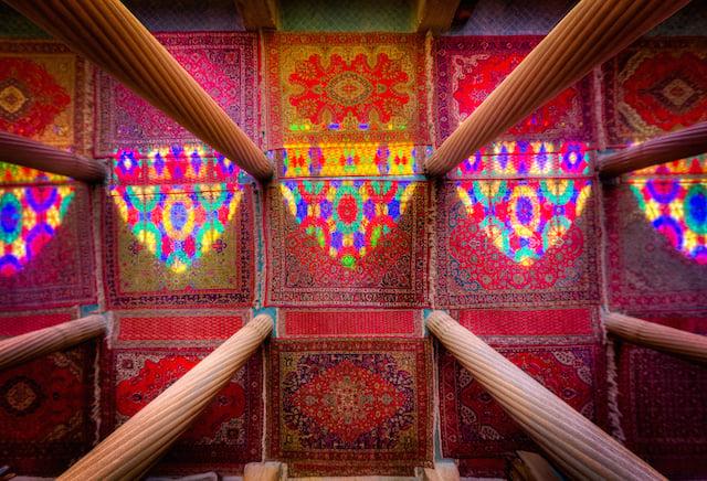 Columns Colors and Light - Nasir al-mulk mosque - Shiraz - 2013
