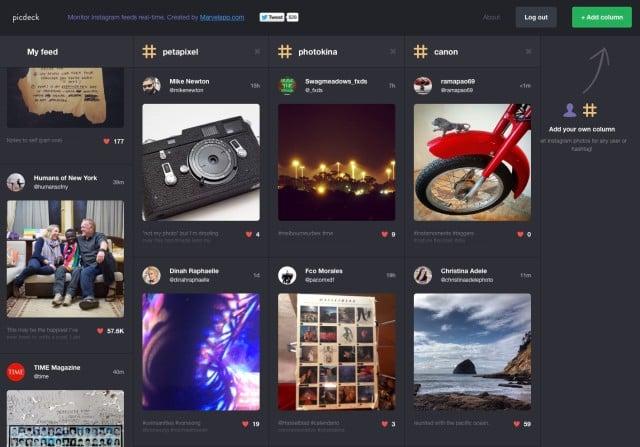 Picdeck Web App Brings TweetDeck-Like Functionality to Instagram