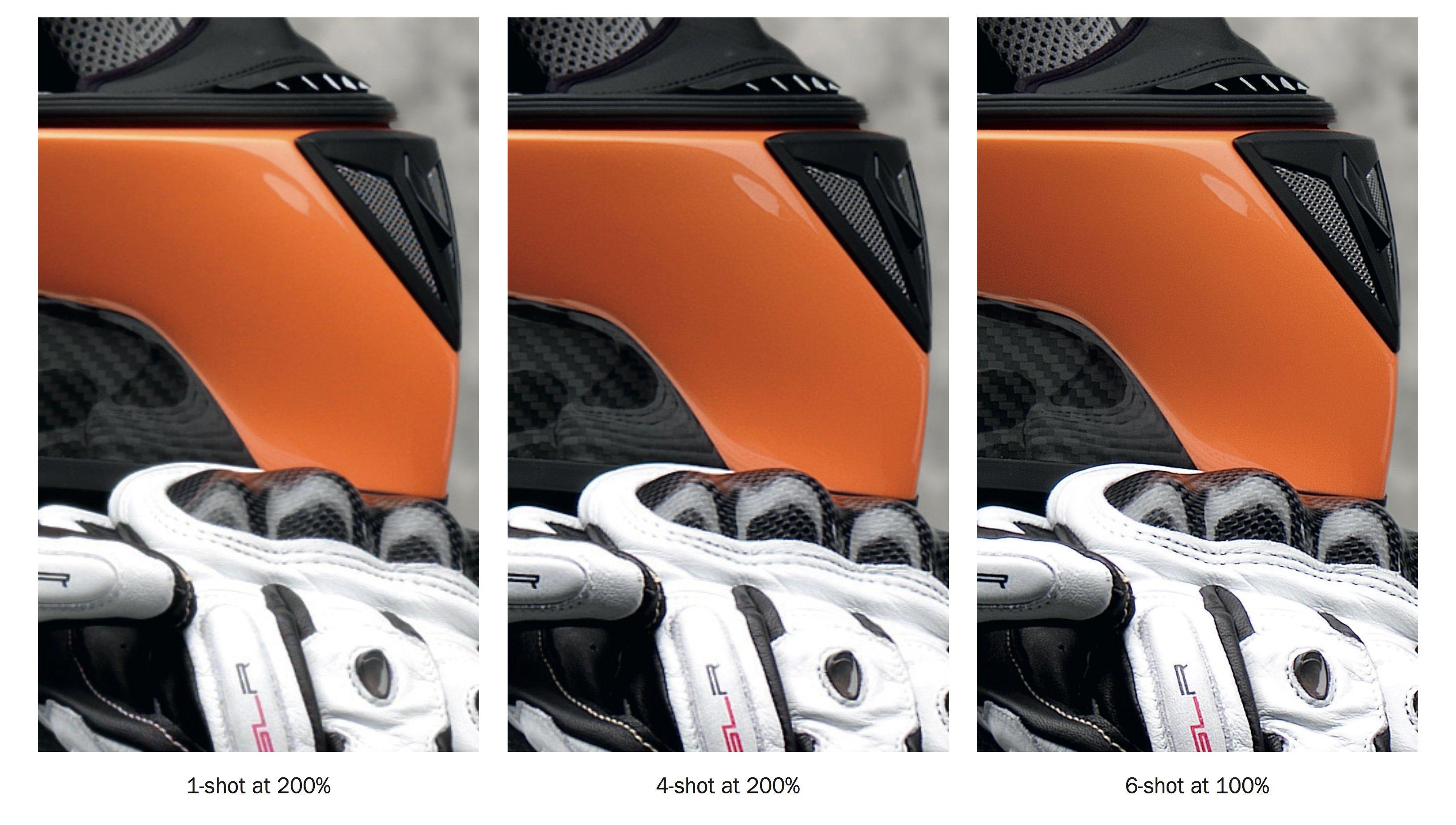 multishot pixel shifting sensor