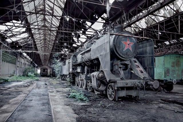 HUNGARY - MAV 424 Steam Train