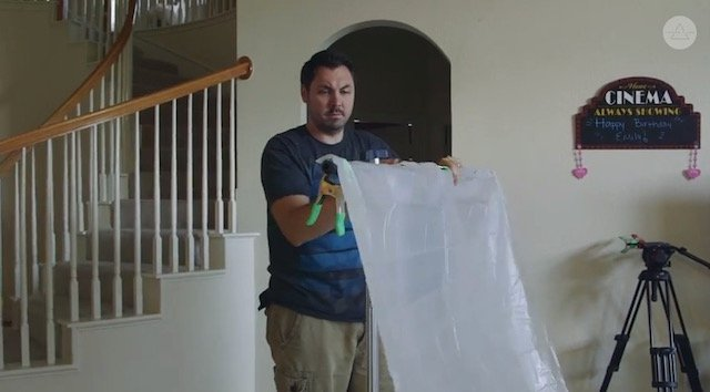 DIY Tip: Using a Shower Curtain as a Diffuser