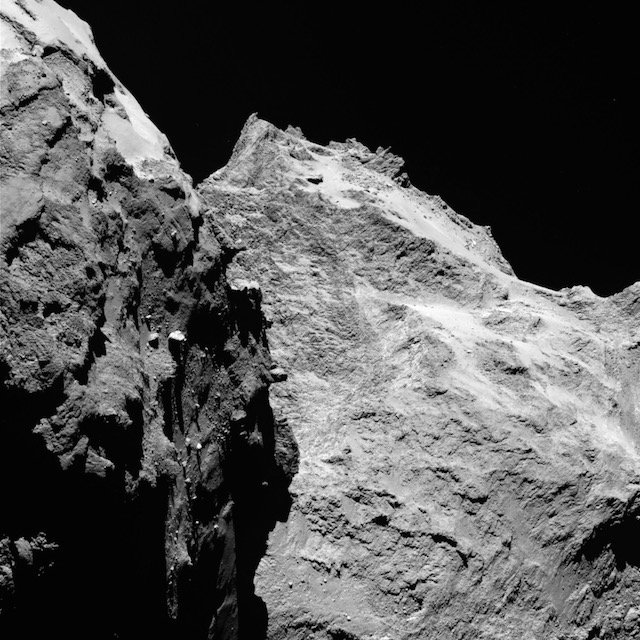 Original black and white photograph posted on ESA's Flickr page.