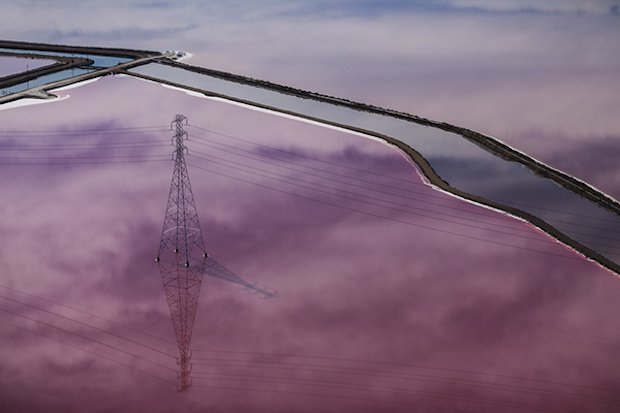 Out of This World Aerial Photographs of Purple Salt Ponds in San Francisco