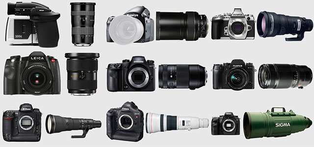 The Most Expensive Camera Kits Photographers Can Buy for Each Brand (in 2014)