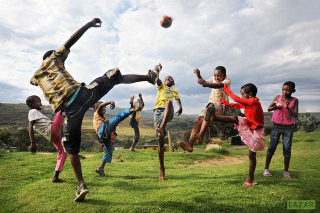 Wide shot: Quthing, Lesotho