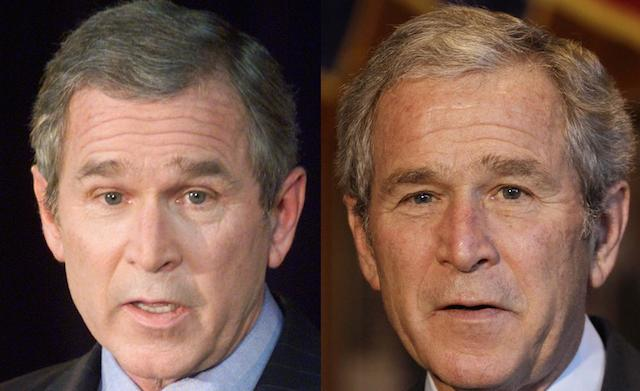 George W. Bush in 2001 and 2008