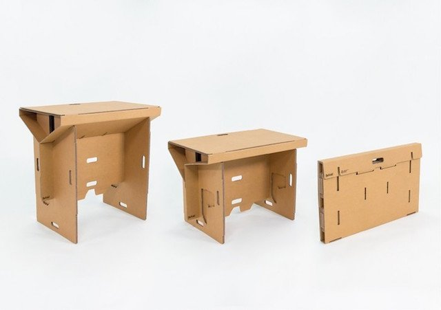 Refold: A Light and Portable Desk Made Entirely Out of Recycled ...