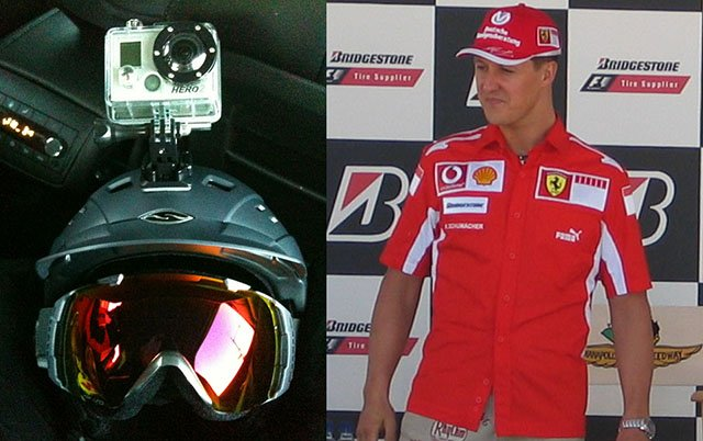 Michael Schumacher's Ski Accident Brain Injury Said to Be Caused by his GoPro Helmet Cam