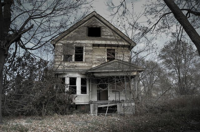 The Sayer House is supposed where a couple committed suicide, leaving their four children to fend for themselves for more than a decade.
