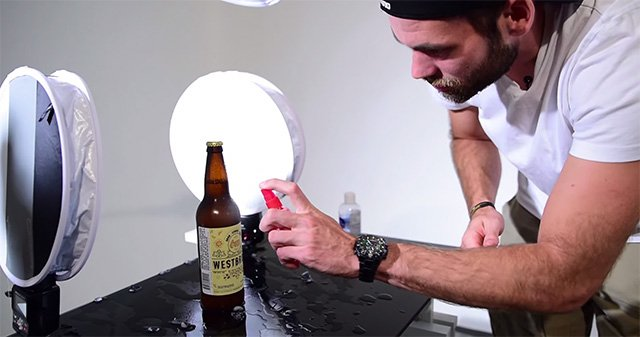 How to Capture a Complex 5-Light Beer Bottle Product Shot from Start to Finish