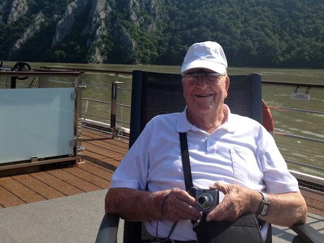Grandpa on Deck with Camera