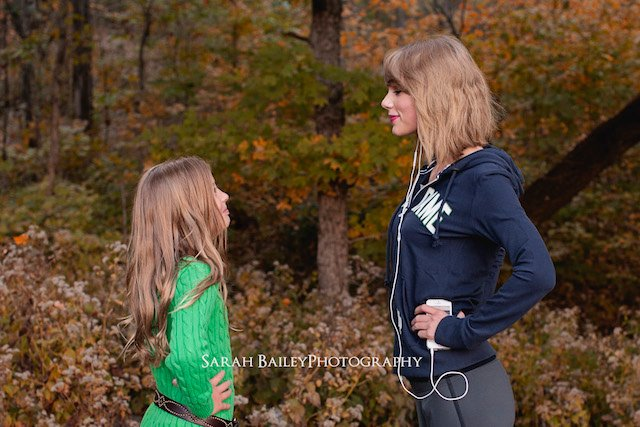 Taylor Swift Crashes Young Fan's Photo Shoot While Out Jogging in Nashville