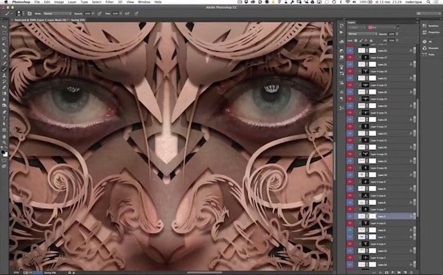 Using Clipping Masks and Drop Shadows to Turn Any Portrait Into a Sculpturesque Image