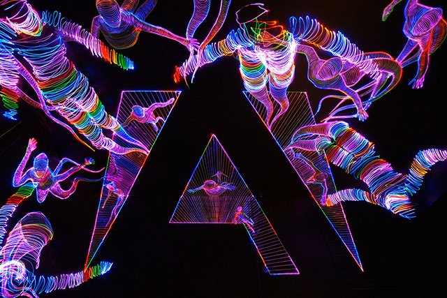 BTS: Using Forced Perspective Drawing and Light Painting to Create a Mind-Bending Adobe Logo