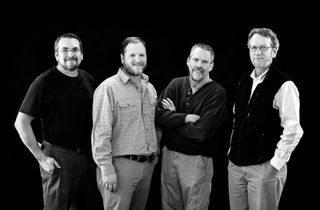 Journal Star photographers (left to right) Fred Zwicky, Matt Dayhoff, Ron Johnson, and David Zalaznik. Photo by Teressa Hargrove/Journal Star