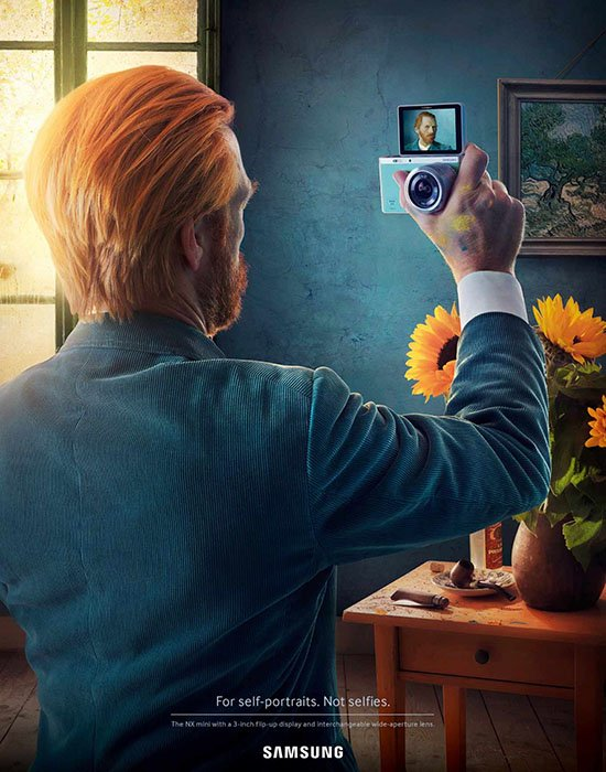 Samsung Camera Ads Imagine Famous Self-Portrait Paintings as the Result of Selfies