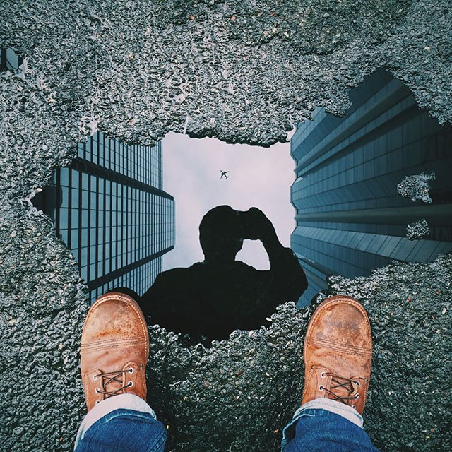 How I Created This Viral Puddle Reflection Picture in Photoshop