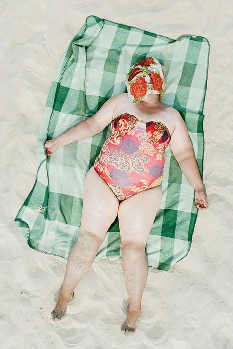 Uncomfortable Photographs of Sunbathers Sleeping Comfortably on a Beach