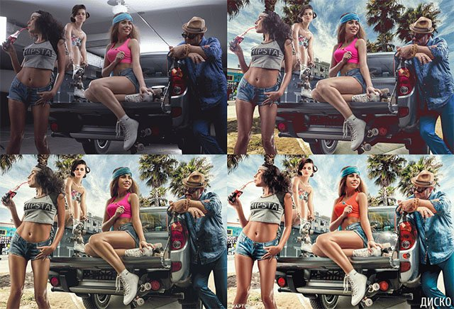 Animated GIFs Reveal the Retouching That Went Into Composited Photos