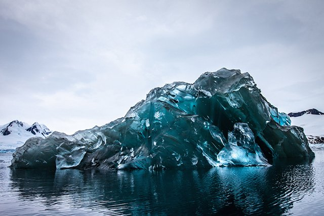 Photographer Captures Rare Pictures of an Upside-Down Iceberg