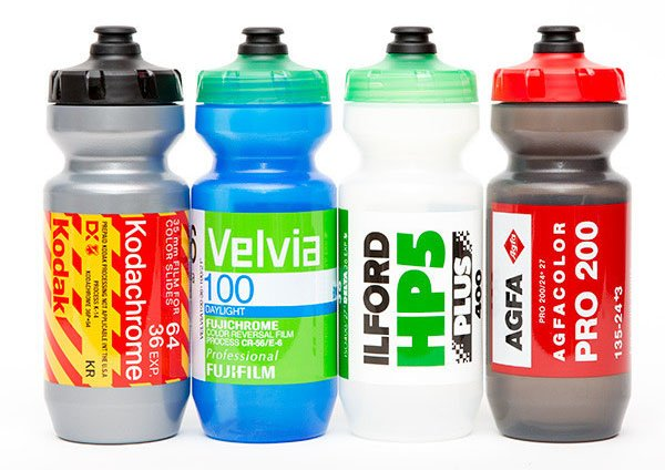 Cycling Water Bottles Designed to Look like Rolls of Classic Films