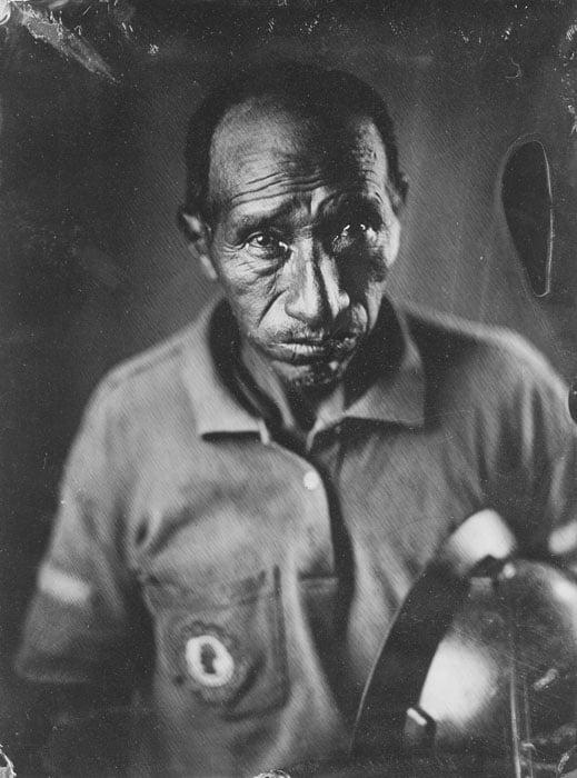 Silver tintype portraits