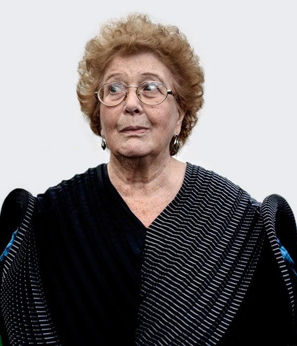 Joyce, Muswell Hill, wears Issey Miyake