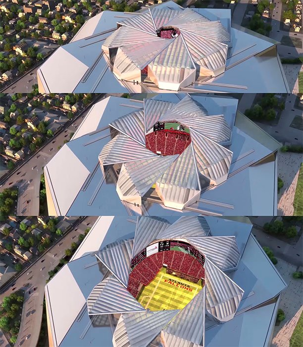 New Atlanta Stadium S Roof Opens And Closes Like An 8
