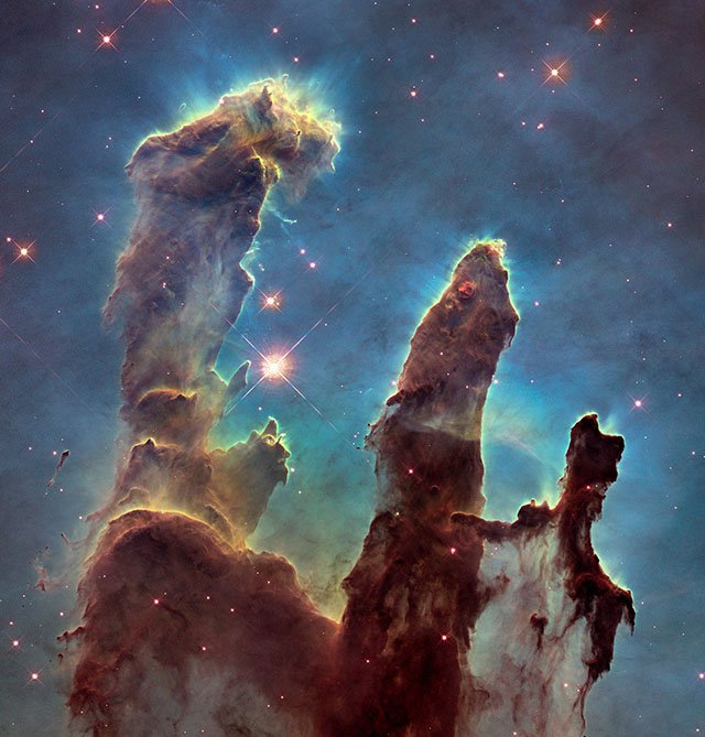 NASA Recreates the Iconic 'Pillars of Creation' Hubble Photo 20 Years Later