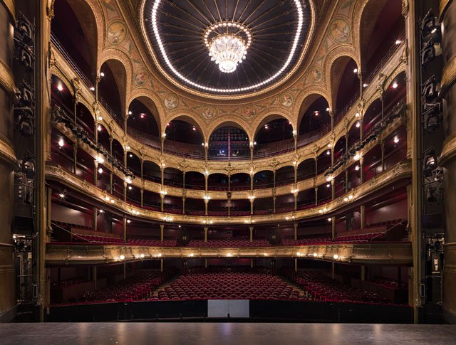 The Beautiful Symmetry of Grand Theaters Captured from Center Stage