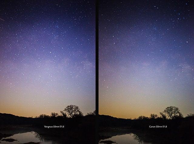 Image Compare Yongnuo vs Canon River