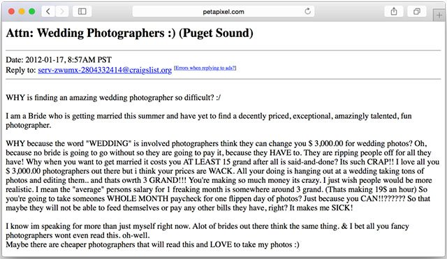 The Unspoken Reason Why Wedding Photography Is So Expensive