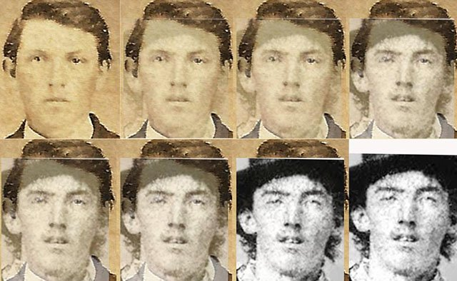 A facial comparison of the two images