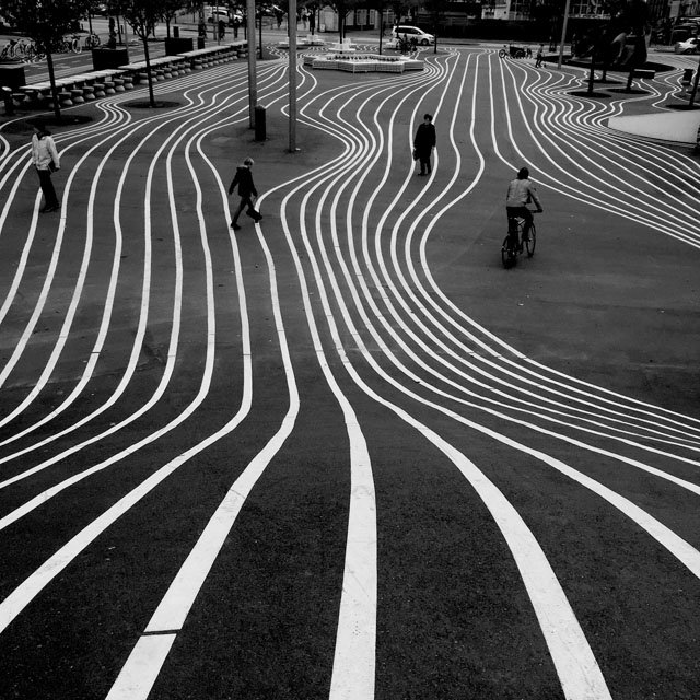 Shot by Brendan Ó. in Copenhagen, Denmark. Shooting from an urgent angle can truly add an interesting angle. Right here, it makes contours into the outlines that convey a feeling of movement toward viewer.
