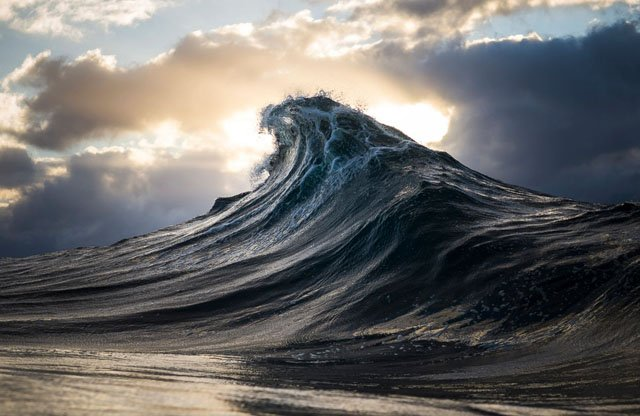 Seascapes: Ocean Waves Photographed to Look Like Mountain Ranges