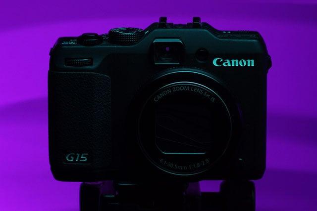 Purple backlit with ambient purple light