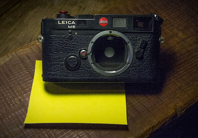 DIY Leica M-P 'Correspondent' Edition on eBay Comes with a Leica M6 and Sandpaper