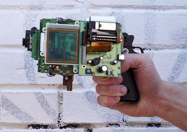 An 8-Bit Instant Camera Made with a Gun, Game Boy, Camera, and Thermal Printer