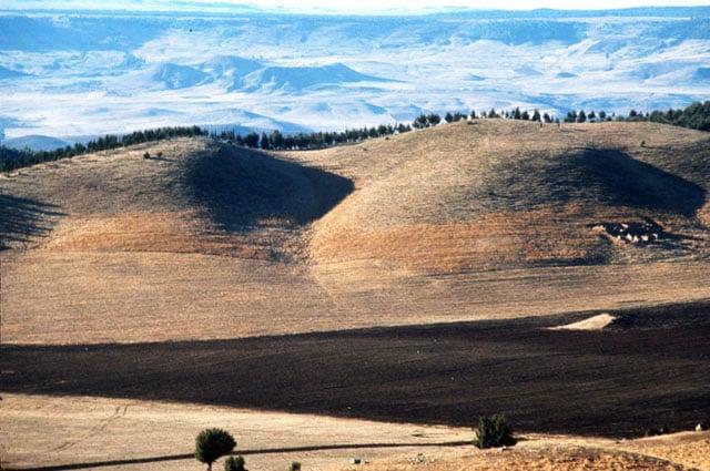 Sun-baked Moroccan plains