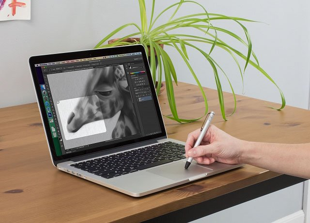 inklet lets you use the new macbook touchpad as a pen