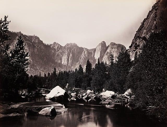 Carleton_Watkins,_Merced_River,_Yosemite_Valley,_California,_ca._1865