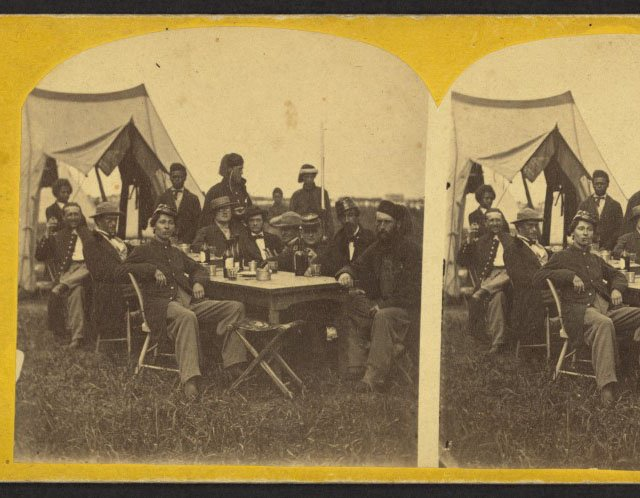 Union soldiers at Fort Monroe, Virginia, 1861  [#]