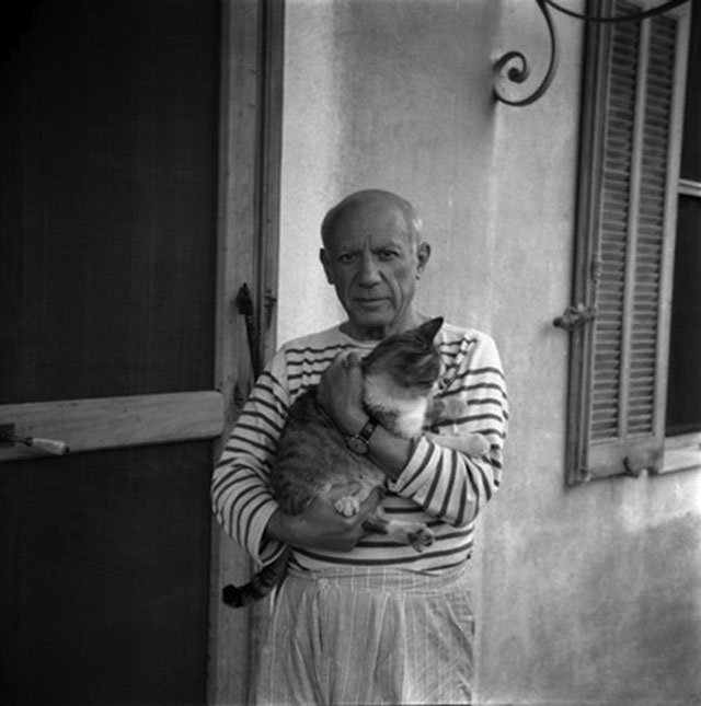 Pablo Picasso. Photograph by Carlos Nadal, 1960; © Estate of Pablo Picasso. Artists Rights Society (ARS), New York
