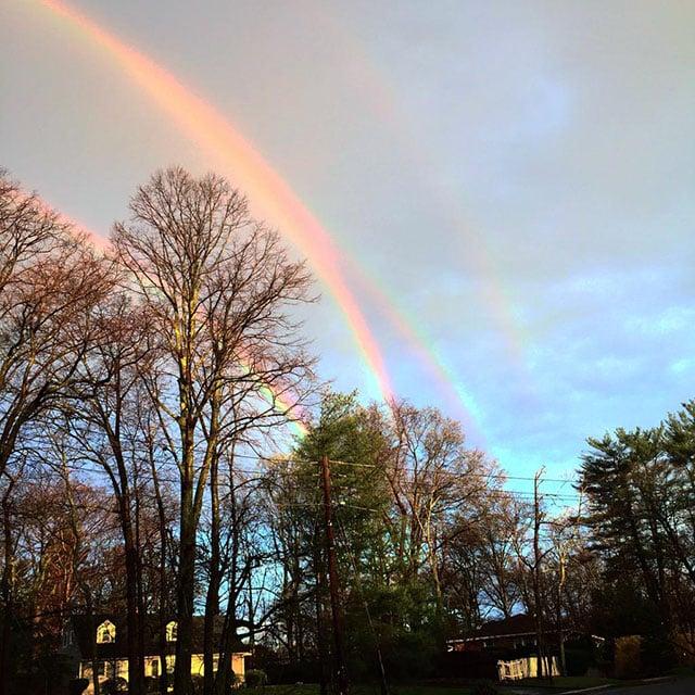 An Incredibly Rare Photo of a Quadruple Rainbow