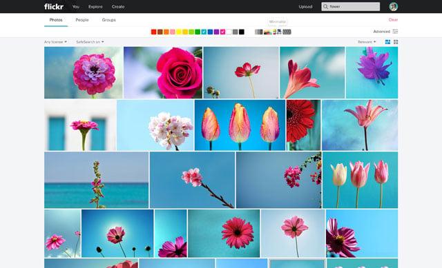 Flickr_Web_Color Search_Minimal