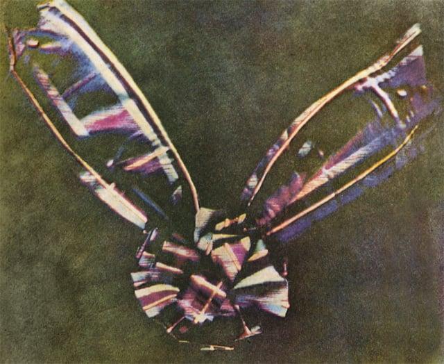 1861 онд физикч Жэймс Максвеллийн авсан анхны өнгөт гэрэл зураг