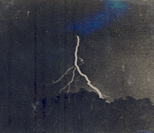 first ever lightning photo