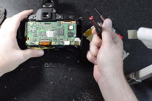 Exposing the main circuit board